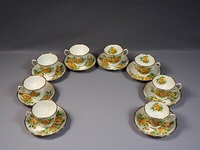 Royal Albert Yellow Tea Rose Bone China Coffee Tea cup Saucer England