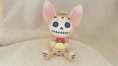 Furrybones Taco the Chihuahua Figurine Skull in Costume Gift New Free Shipping