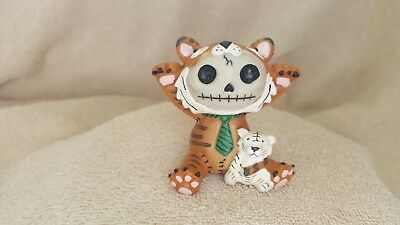 Furrybones Tigrrr the Tiger Figurine Skull in Costume Collect New Free Shipping