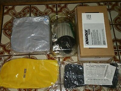 ADVANTAGE 813860 Gas Mask And Full Nuclear Chemical Biological Suit bug out SHTF