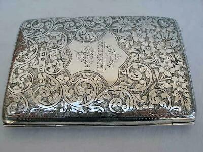 Excellent Shipping Interest Sterling Silver Card Case Wallet By John Rose.