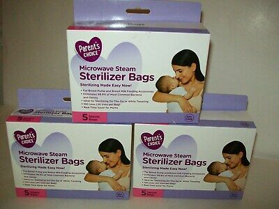 Parents Choice Microwave Steam Sterilizer Bags Lot Of 4 Boxes 5 Bags In Each