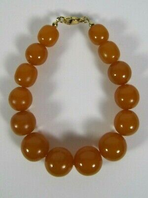 Old Vintage Baltic Amber Graduated Round Beads Butterscotch Bracelet 27 Grams