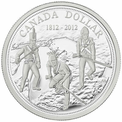 Canada 2012 $1 The War of 1812 200th Anniv. Pure Silver Dollar Proof Tax Exempt