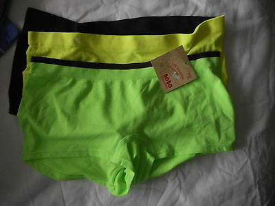 d9f6488644a1 Women's No Boundaries Hipster Panties 3 Pack Size Small 5 Green Black Yellow