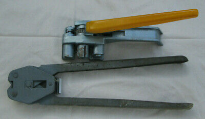 "YBICO Tensioner/ Cutter tool for 1/2"" strap + Crimper tool for 1/2"" steel seals"
