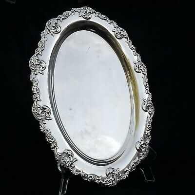 Lawrence B. Smith Co. Silver Plated Oval Serving Tray 19 Inch