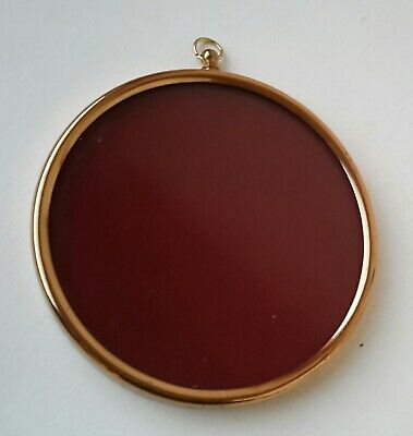 Round Frame with Glass Suitable for Vintage Miniature Painting