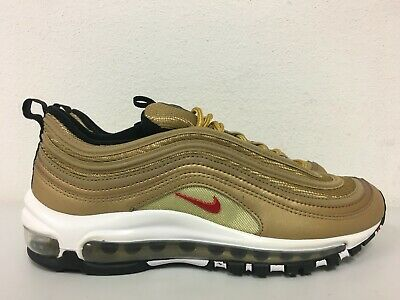 Details about Nike Air Max 97 QS GS OG Metallic Gold Varsity Red Bullet Running 918890 700