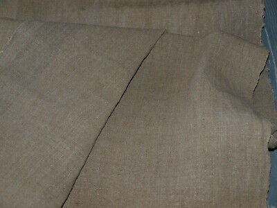 Antique Linen Vintage Handvowen Old Unbleached Flax Homespun Rustic Hemp Fabric