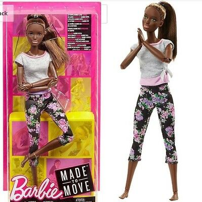 Barbie Made to Move Ultimate Posable Barbie Yoga Floral Pants African American