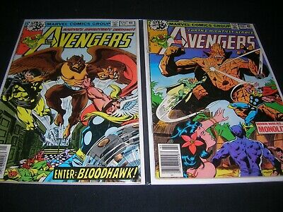 Lot Of Two Bronze Age The Avengers Comics From 1978, #179 & #180 In Vg+ Cond.
