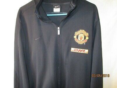620fcbb702b3 NEW BLACK NIKE Manchester United Football Soccer Sweat Jacket-NWOT ...