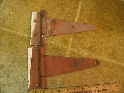 "Pair Vintage 8"" Barn Door Hinges"