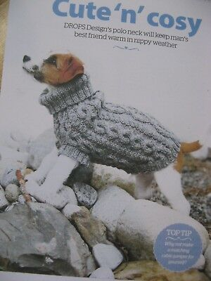 Knitting pattern cable polo neck dog coat jumper small to medium dog