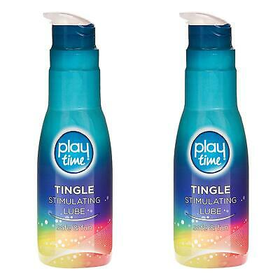 2 x Playtime Tingle Stimulating Lube Sex Lubricant Water Based Condom Safe 75ml