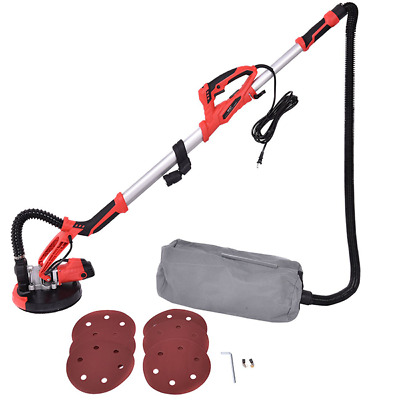 Adjustable Commercial Electric Drywall Sander Machine With Vacuum LED Light 800W