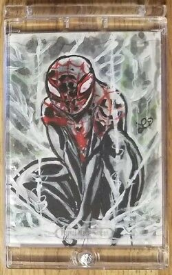 2016 Upper Deck Marvel Masterpieces SPIDER-MAN Art Sketch Card by Lucla...