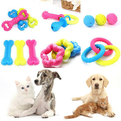 Pet Dog Cat Puppy Toy Teething Tough Chew Toys Bone Pacifiers Gum Dental Health