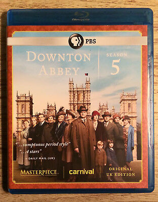 Downtown Abbey: Season 5 (Blu Ray, 2015, 3-Disc Set)