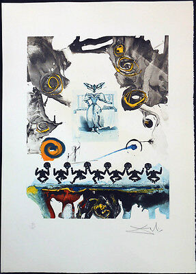 Dali, Memories of Surrealism Surrealist Gastronomy lithograph etching, authentic