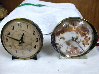 Big  Bens Lot Of Two  Metal  Alarm Clock ( Parts Only)