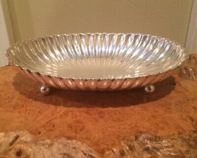 Gorham Leamington Sterling Silver Mid Century Modern Oval Footed Bowl 489 Grams