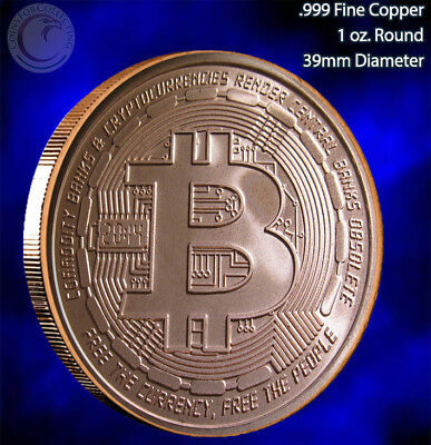 """2014 Bitcoin"" Copper Round 1 oz .999 Very Limited and very rare not many left"