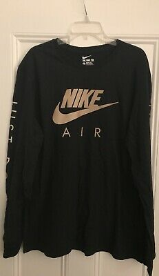 1197441c Authentic The Nike Tee Just Do It reflective black gold tee t-shirt XL  Supreme