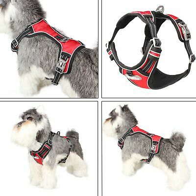 No Pull Adjustable Dog Pet Vest Harness Quality Nylon Reflective Outdoor Small