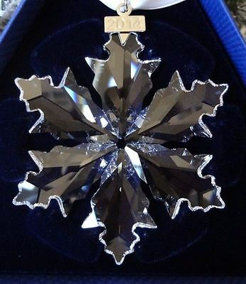 Swarovski 2014 Christmas Snowflake Star Ornament Crystal - Large  - 5059026