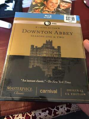 DOWNTOWN ABBEY Seasons One & Two SEALED BLU-RAY w/BONUS FEATURES **