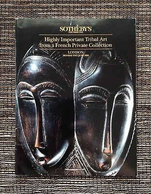 RARE 1993 Sotheby's Auction Catalog: Highly Important Tribal Art, Private French