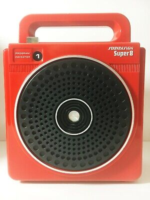 Red Super 8 Soundesign 8 Track Tape Player (Just Serviced) (See Video)