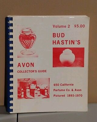 Scarce Bud Hastin's Avon Collectors Guide Book Volume 2/First Printing 1970