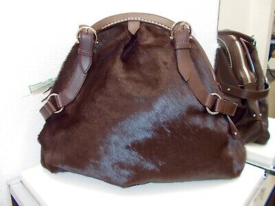 b67c99d4b1 SALVATORE FERRAGAMO PONY hair leather new bag 100% authentic medium ...