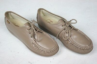 f71ccaf28fae SAS  Siesta  Mocha Leather Lace Up Oxfords Comfort Walking Shoes Women s ...