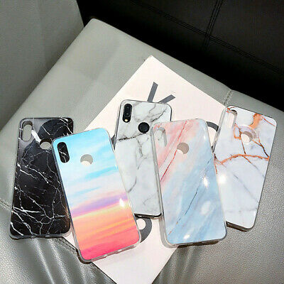For Xiaomi Redmi Note 8 7 6 Pro K20 9T Pro Marble Pattern Soft Rubber Cover Case