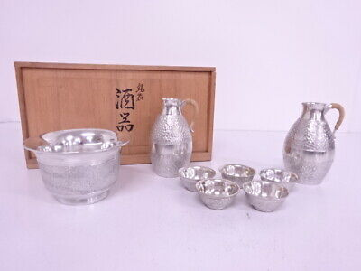 4100173: Vintage Japanese Tin Sake Drinking Set