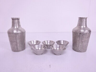 4100165: Japanese Tin Sake Drinking Set