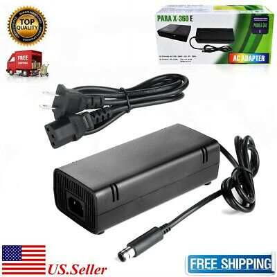 Xbox 360 E Power Supply Brick Charger Adapter Cable Cord for Xbox 360 E Console