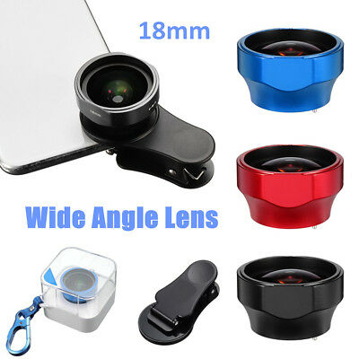 Wide Angle Optical Cell Phone Camera Lens Universal Mobile Clip Portrait 18mm