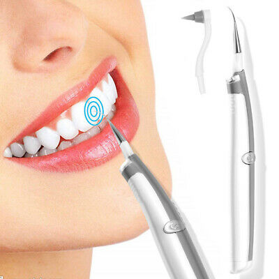 Electric Sonic Pic Tooth Beauty Cleaner Plaque Remover Vibrating Teeth Tool AU