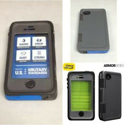 uk availability 05718 8d065 NEW OEM OTTERBOX Armor Series Blue Waterproof Case For iPhone 4/4s