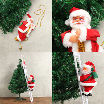 Animated & Musical Jingle Bells Santa Claus Climbing Ladder Christmas Decoration