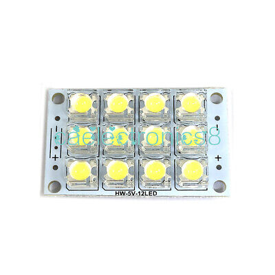 Active Components Electronic Components & Supplies 5pcs 12v Led Panel Board 42 Piranha Led Energy Saving Panel Light Board White Consumers First