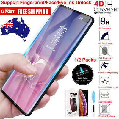 For Samsung Galaxy S10e S10+ Plus Full UV 9H Tempered Glass Screen Protector AU