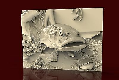 STL 3d Model CNC 168 (Fish) Engraver Machine Relief Artcam