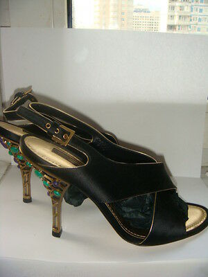 83eb0b3397e  1200 Auth LOUIS VUITTON Jewelled Heels LIMITED EUR38.5 US 8.5 size NO  RESERVE