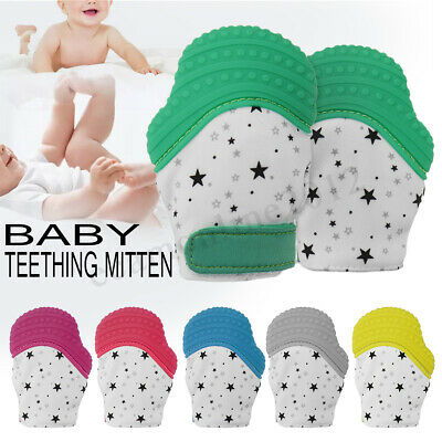 *Star Baby Silicone Mitts Teething Mitten Glove Candy Wrapper Sound Teether Toy
